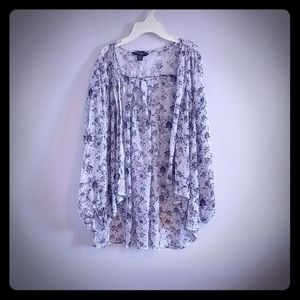 Floral duster blouse